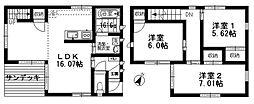 [一戸建] 福岡県福岡市東区香住ケ丘5丁目 の賃貸【/】の間取り