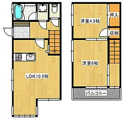 [テラスハウス] 東京都江戸川区上一色2丁目 の賃貸【/】の間取り