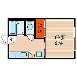 滋賀県彦根市長曽根町の賃貸アパートの間取り
