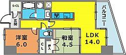 レジュール ザ・元町駅前[400号室]の間取り