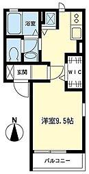 神奈川県川崎市高津区下野毛2丁目の賃貸アパートの間取り