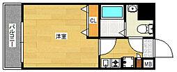 ピュアドームヴィアーレ博多[3階]の間取り