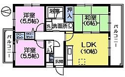 東京都練馬区谷原4丁目の賃貸マンションの間取り