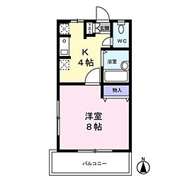 エコーハイム[1階]の間取り