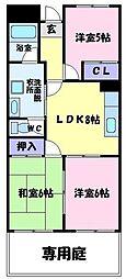 大阪府富田林市加太1丁目の賃貸マンションの間取り