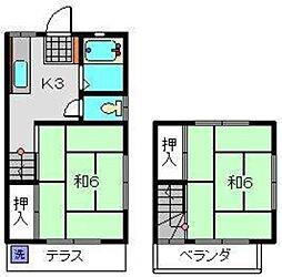 [テラスハウス] 神奈川県横浜市神奈川区西大口 の賃貸【/】の間取り