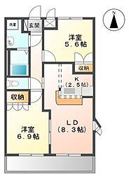 コンフォースMIYA[1階]の間取り