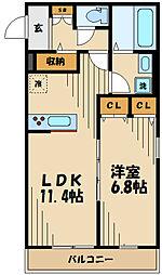 OLIVE(オリーブ) 2階1LDKの間取り