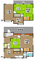 [一戸建] 東京都中野区野方1丁目 の賃貸【/】の間取り