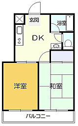 TSSマンション[2階]の間取り