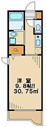 東京都日野市万願寺2丁目の賃貸マンションの間取り