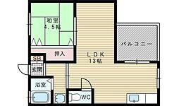 西田マンション[2階]の間取り