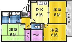メゾンボナール[3階]の間取り