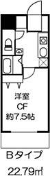 ドミール川崎2番館[4階]の間取り