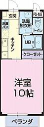 愛知県一宮市木曽川町玉ノ井字蒲池の賃貸アパートの間取り