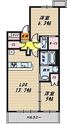 シティテラス京橋[9階]の間取り