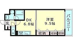 パークアヴェニュー 7階1DKの間取り