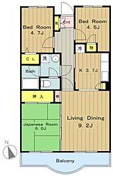 フォレストマンション[2階]の間取り