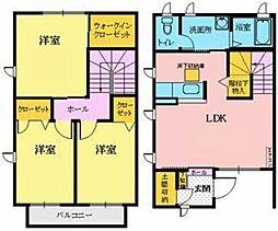 シャーメゾンヤサキ 1階3LDKの間取り