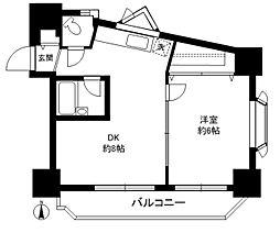 パークハイム駒沢[403号室]の間取り