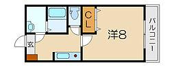 コスモハイツ愛知川[1階]の間取り