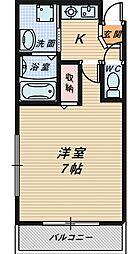 大阪府堺市堺区向陵西町1丁の賃貸アパートの間取り