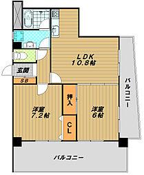 サントピア須磨[7階]の間取り