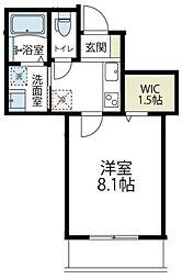 JR南武線 久地駅 徒歩8分の賃貸アパート 3階1Kの間取り