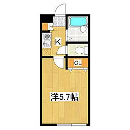 東京都江戸川区西小岩1の賃貸アパートの間取り