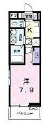 小田急小田原線 百合ヶ丘駅 徒歩14分の賃貸アパート 1階1Kの間取り