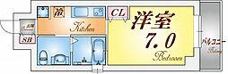 兵庫県神戸市須磨区飛松町3の賃貸マンションの間取り