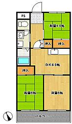 松戸レジデンス[306号室]の間取り