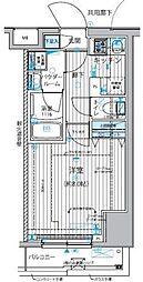 都営大江戸線 新御徒町駅 徒歩4分の賃貸マンション 4階1Kの間取り