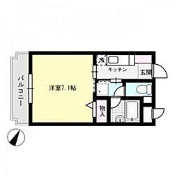 エスターテ[2階]の間取り
