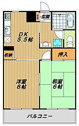 フルス名倉[1階]の間取り