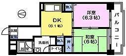サンハイム茂呂[2階]の間取り