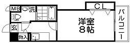サンフルール[2階]の間取り
