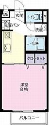 岐阜県関市山田の賃貸アパートの間取り