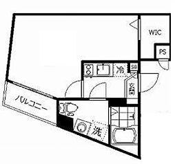 東武東上線 ときわ台駅 徒歩7分の賃貸マンション 3階1Kの間取り