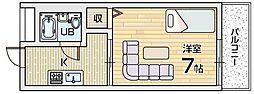 ハレアカラ[2階]の間取り