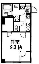 ラ・ヴェール吉祥寺 2階1Kの間取り