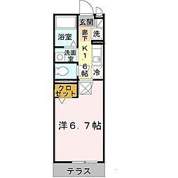 セジュール西代I[1階]の間取り