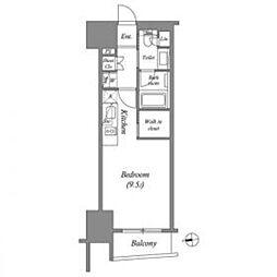 東京メトロ銀座線 上野駅 徒歩3分の賃貸マンション 14階ワンルームの間取り