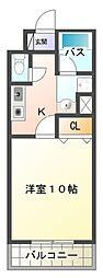 愛知県岡崎市舳越町字神道の賃貸マンションの間取り