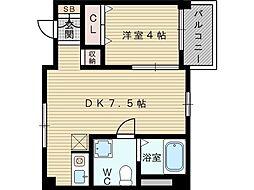 東千里OMパレス3[3階]の間取り