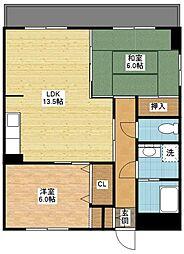 長崎県長崎市西山台1丁目の賃貸マンションの間取り