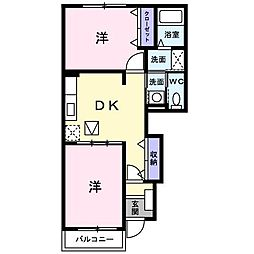 ヴィラ・ウィステリア C棟[1階]の間取り