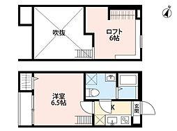 ヘリオトロープ鶴間(ヘリオトロープツルマ)[1階]の間取り