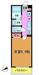 (仮称)平田3丁目メゾン 2階1Kの間取り