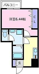 近鉄南大阪線 高見ノ里駅 徒歩3分の賃貸アパート 1階1Kの間取り